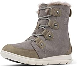 Sorel Women's Explorer Joan Boots, Quarry/Black, 9 M US
