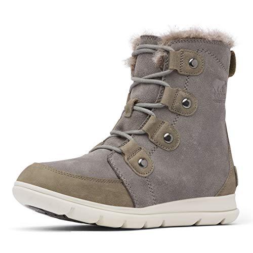 Sorel Women's Explorer Joan Boots, Quarry/Black, 7.5 Medium US