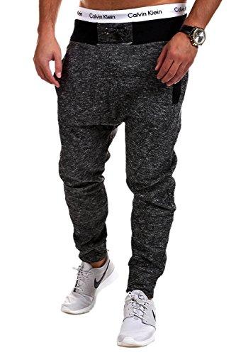 MT Styles Loose Fit Sarouel Pantalon de Sport P-1861 [Gris Fonce, L]