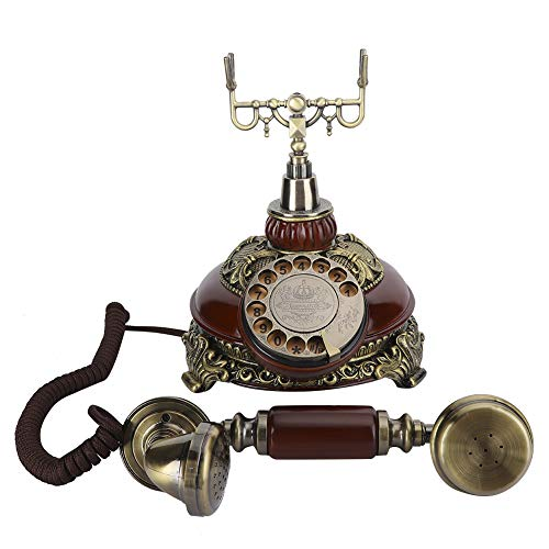 Weikeya Multa Bronce Teléfono, Ladrón Alarma Sistema Calidad Resina Material Teléfono Línea Servicio Vida con Resina