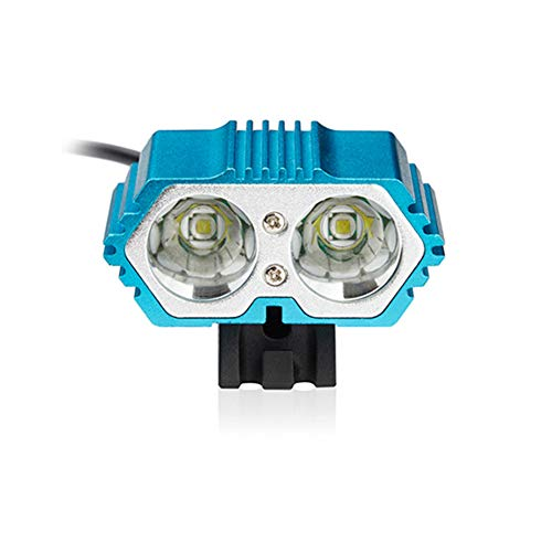 GJF Fahrradlicht, T6 / L2 LED Doppelscheinwerfer mit 15000 mAh Akku, wasserdichter Außenreit-Pendler-blue-L2lightsource