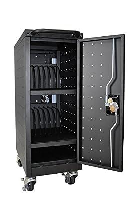 LUXOR LLTM16-B-V2 Tablet and Chromebook Charging Cart