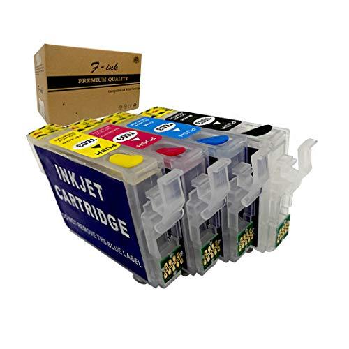 F-ink Reemplazo de Cartucho de Tinta Recargable para Epson 603 o 603XL, Funciona con Expression Home XP-3100 XP-2105 XP-4100 XP-2100 XP-3105 XP-4105 WF-2810 WF-2830 WF-2835 WF-2850 Impresora