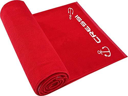 Cressi Cotton Frame Beach Towel Toalla Deportiva, Adultos Unisex, Rojo, 90 x 180 cm