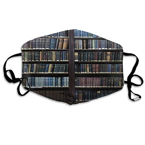 n a Safety Staubdichter Nasen- und Mundschutz für Luftverschmutzung, multifunktional, Unisex, Bücherregal lustig