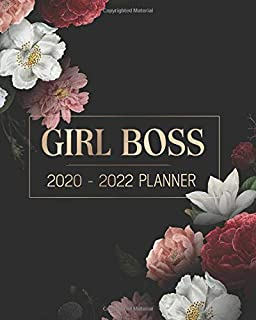 Girl Boss 2020 - 2022 Planner: Setting Goals | Yearly, Monthly Calendar | Unruled Daily Checklist with Inspiring Quotes and Elegant, Classy Black Cover Design