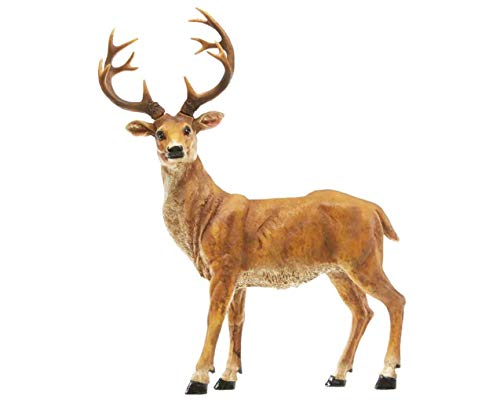 TAOBIAN Standing Deer Wildlife Animal with Removable Antlers Garden Accessories Figurines Statue Indoor Outdoor Decoration Ornaments Gifts Yard Lawn Decor