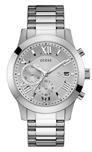 GUESS Atlas Herren-Armbanduhr 44mm Armband Edelstahl + Gehäuse Quarz W0668G7