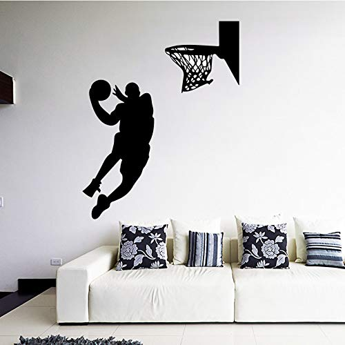 Basketball Player Wall Stickers Boys Bedroom Living Room Sofa Decorative Removable Self Adhesive Wallpaper Pink L 43cm X 54cm