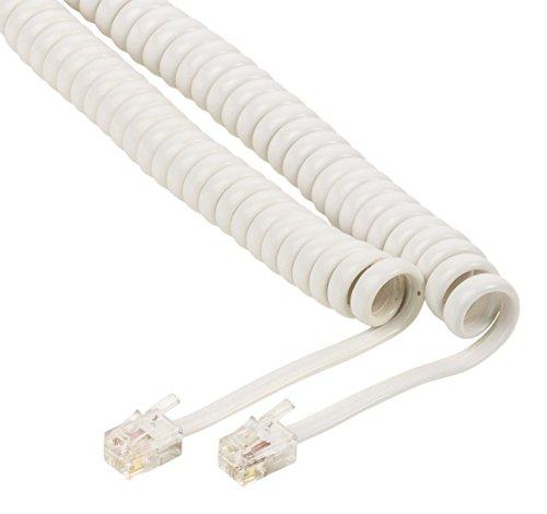 KnnX 28088 | Cable en Espiral para Auricular telefónico | Conectores RJ10...
