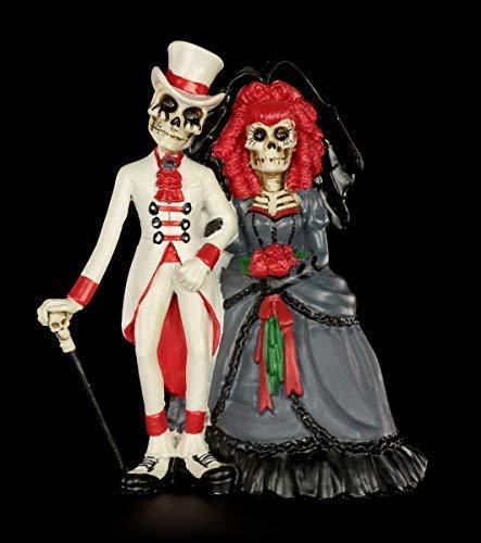 Figuren Shop GmbH Gothic-Figur Skelett Brautpaar - Forever by Your Side | Fantasy-Figur, Handbemalt