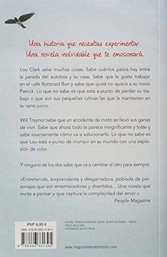 Reseña y Review del libro YO ANTES DE TI (Antes de ti 1) de Jojo Moyes