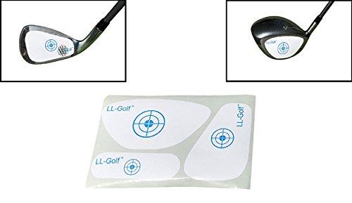 LL-Golf ® 90er Set Golf Impact Tapes/Label mit je 30 Driver/Holz, Eisen/Wedges und schmale Holz/Hybrid Tapes/Golfschläger Schlagfläche Impact Aufkleber/Etiketten RH