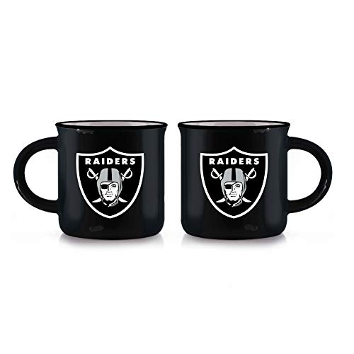 Duck House NFL Oakland Raiders Unisex Vintage Style Bone China Tasse schwarz 340 ml