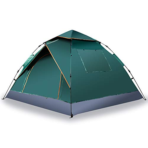 Zone Tech Family Instant Pop Up Tent – Portable Waterproof and Windproof 3-4 Person Camping, Hiking, Traveling Automatic Easy Setup Pop Up Family Tent - Perfect for Outdoor Activities