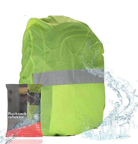TK Gruppe Timo Klingler Rucksack Schulranzen Regenschutz Regencape Regenhülle - ultrahell & starkreflektierend & wasserdicht für Schulanfänger & Kinder (1x)