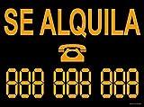 akrocard - Cartel Resistente PVC - SE ALQUILA Personalizable - Señaletica de informacion - señal ideal para inmobliarias