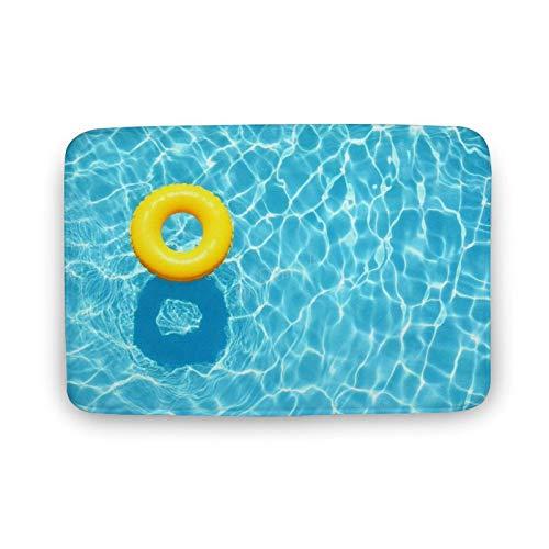 Viowr22iso Alfombra de baño antideslizante, absorbente, para piscina, natación, vacaciones, cómoda, de 50 x 80 cm