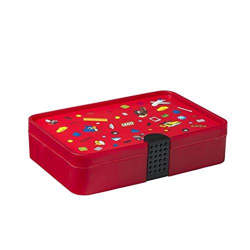 LEGO emblématique Tri Box, Rouge Vif, Taille Unique