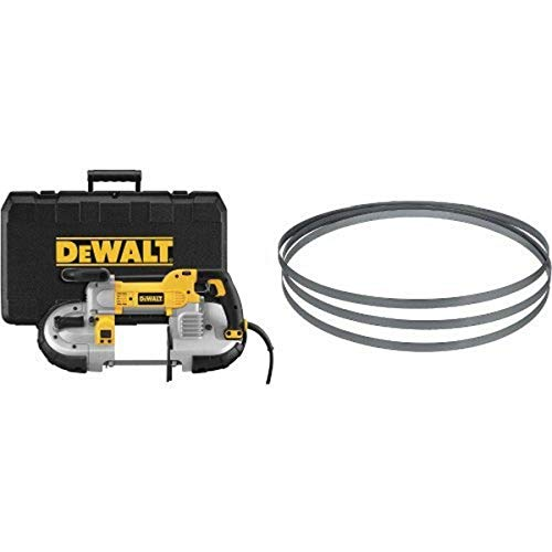 DEWALT DWM120K 10 Amp 5-Inch Deep Cut Portable Band Saw Kit with 24TPI Portable Band Saw Blade - 44-7/8-Inch, .020-Inch, Matrix Ll (3-Pack)