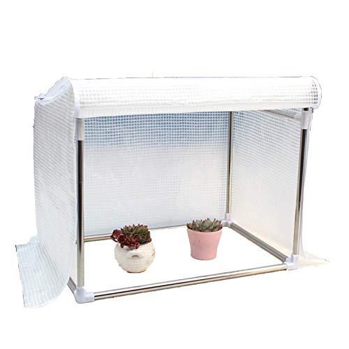 Gzhenh Invernadero Pequeño,Miniatura Cubierta De Aislamiento Térmico Y Anticongelante Mantener Caliente Diseño De Cuadrícula Impermeable Anti-Nieve Invernadero Balcón