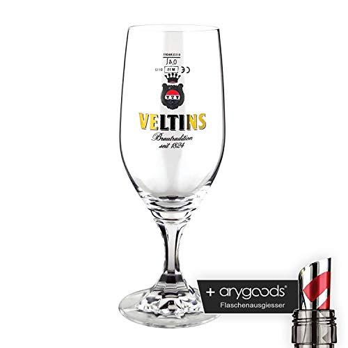 Veltins Glas/Gläser 0,4l Pokal Bierglas Gastro Bar Deko NEU + anygoods Flaschenausgiesser