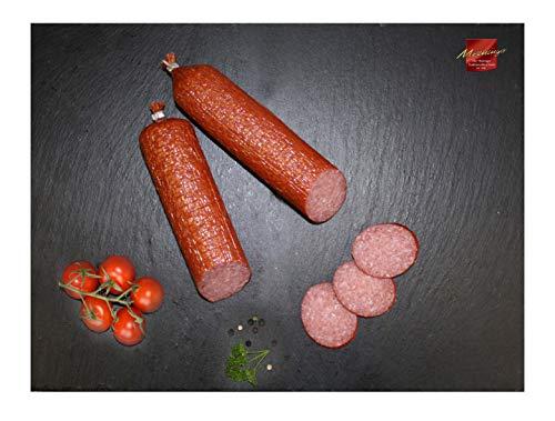 Rennsteig Salami I Deutsche Wurst aus Meiningen I 2x 400g Salami