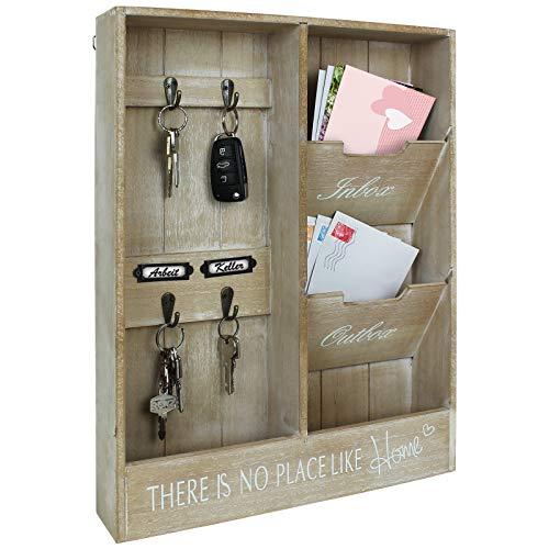 TW24 Wandorganizer Shabby Chic Vintage Design für Schlüssel und Briefe Schlüsselbrett Memoboard