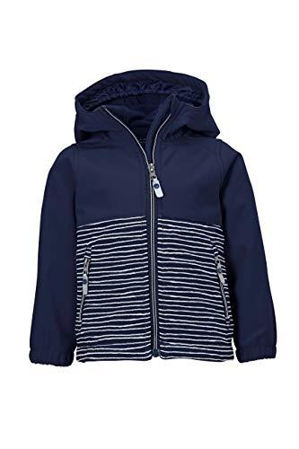 Killtec Unisex Kinder Mini Softshell Jacke Softshelljacke/Outdoorjacke mit Kapuze, dunkelblau, 122/128