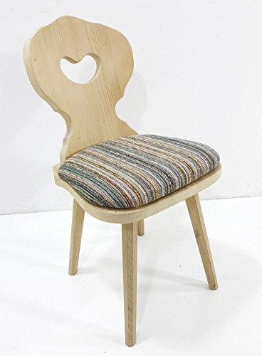 Schösswender Bauernstuhl Amberg, Landhausstuhl Holzstuhl Sessel Stuhl, gewachst, Stuhlpolster Polsterplatte Salzburg
