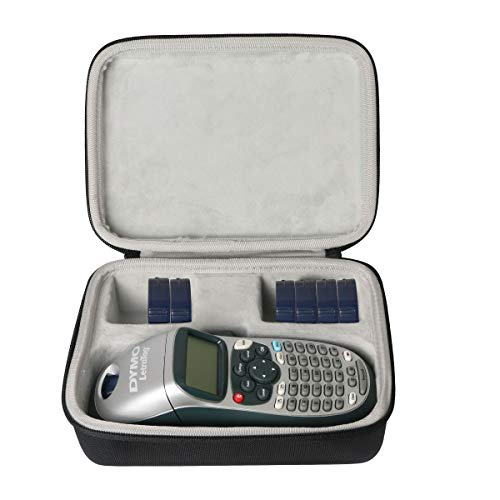 Khanka Hart Tasche Schutzhülle für Dymo LetraTag LT-100H/LT-100H PlusBeschriftungsgerät Handgerät Tragbares Etikettendrucker Etui Case. (Black-Large)