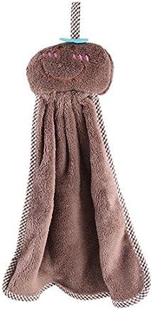eDealMax molleton ménages Doll Head Conception Tenture Nettoyage essuie-Mains débarbouillettes Couleur café
