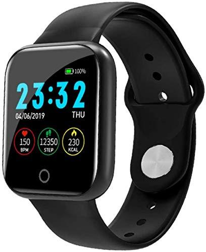 hwbq Reloj de ejercicio de salud con pantalla táctil completa, Bluetooth, podómetro, monitor de ritmo cardíaco, monitor de sueño