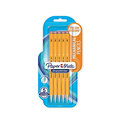 Papermate 3037631PP SharpWriter Mechanical Pencils, Twistable Tip, 0.7 Mm, Pack of 1 Blister, Total 6 Pencils