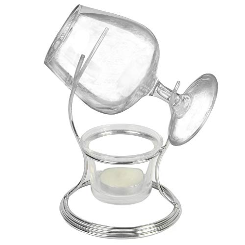 Branntweinwärmer Set | Cognac & Brandy Glashalter | Kerzenflaschenwärmer | Whisky Geschenksets für Herren | Glas & Teelichthalter | M&W