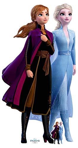 Star Cutouts SC1424 Ltd Anna und Elsa Reise zusammen, perfekt für Frozen Fans, Partys und Veranstaltungen, Höhe 182 cm, Breite 96 cm, mehrfarbig