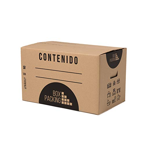 BOXPACKING | Cajas Cartón para Mudanza y Almacenaje | Pack 15 | 43x30x25 cm | Con Asas | Tamaño Grande