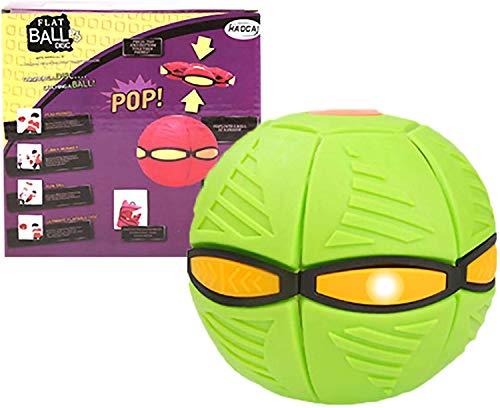 TOPPU Magischer UFO-Ball, Fliegendes Untertassenball des Kinderspielzeugs, Magischer Fliegender Ball,Entlüftungsball Dekompression Eltern-Kind-Spielzeug Frisbee-Bumerang für Kindergeschenke (Grün)