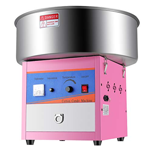 Anbull Cotton Candy Machine New Upgrade Electric Cotton Candy Maker for Homemade Sweets, Party and Commmerical Use, Pink