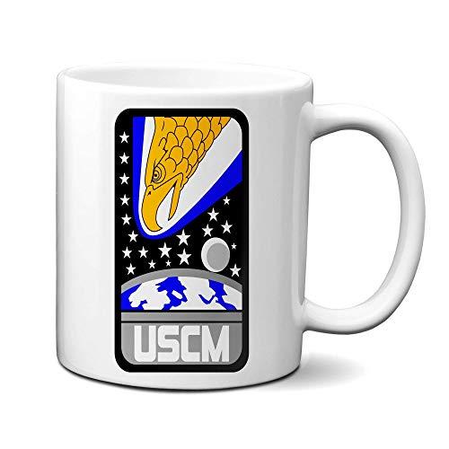 Mug Uscm Colonial Marines Eagle Taza De Café Taza De Té Leche Cumpleaños Blanco Novedad Personalizar 330Ml Unisex Cerámica