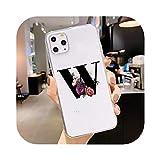 ソフトシリコーンTPUカスタム名文字電話ケースFOR iPhone X XS XR 8 7プラス6 6 s 11プロ最大5 5 s SEカバーシェルFOR iPhone 11-23-FOR iPhone 11
