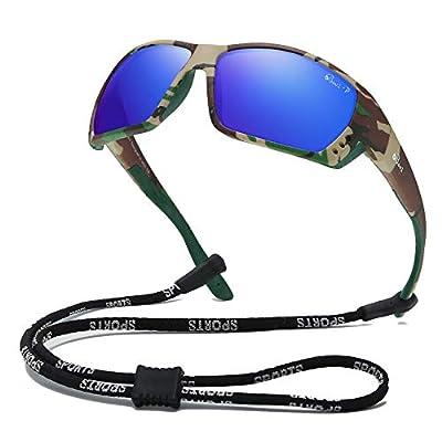 Bevi Polarized Sports Sunglasses for Men Square TR 90 Frame Glasses Flexible and Durable Sun Glasses 2701C4