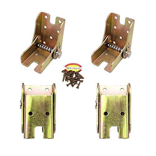 Soporte de soporte plegable- Bisagra autobloqueante- Herrajes para patas y soporte de esquina- para patas plegables  Banco de trabajo plegable Extensión de escritorio plegable en cocina Cama Mesa (4)