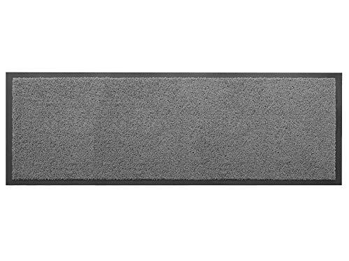 Primaflor - Ideen in Textil Küchenläufer Küchenvorleger Schmutzfangmatte Dancer - Hellgrau, 60 x 180 cm, Küchenteppich Schmutzfangläufer