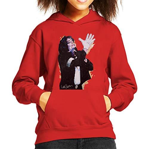 VINTRO Michael Jackson White Glove Kinder Kapuzenpullover Original Portrait von Sidney Maurer
