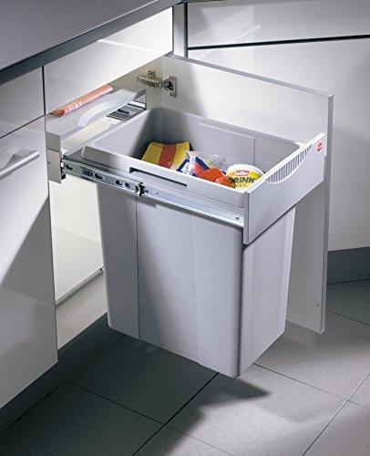 Hailo Easy Cargo Küchen-Abfalleimer, Plastik, Grau, One Size