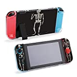 SUPNON Human Skeleton Posing Isolated Over Black Compatible with Nintendo Switch Console & Joy-Con Protective Case, Durable Flexible Shock-Absorption Anti-Scratch Drop Design30711