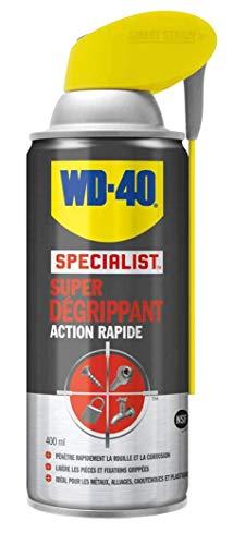 WD-40 Specialist • Super Dégrippant • Spray Double Position • Efficacité Immédiate • Dégrippe rapidement et facilement • Résistant à l'Eau • Compatible Tous Métaux • 400 ML