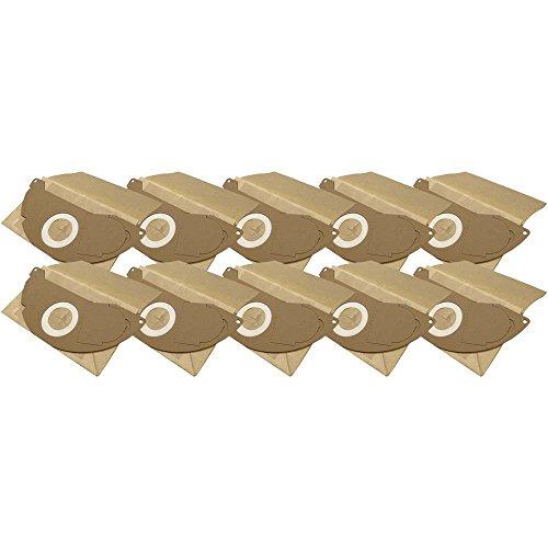 10 Industrie- Baustellen- Gewerbe- Heavy Papier Staubsaugerbeutel passend für Kärcher WD 2.200 à WD 2.299, 6.904-322
