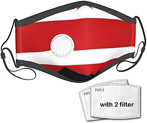 YRUI Bandera de Washington Dc unisex para el aire libre de tela de polvo máscara bucal reutilizable pasamontañas con una válvula con 2 filtros